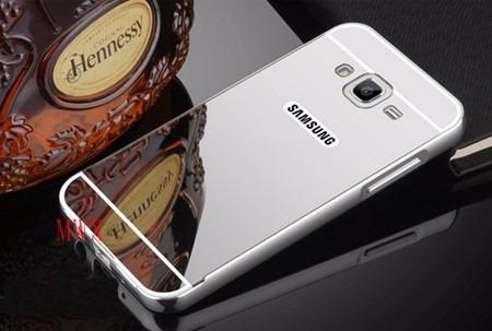 capa case bumper alumínio metal espelhada samsung galaxy on7