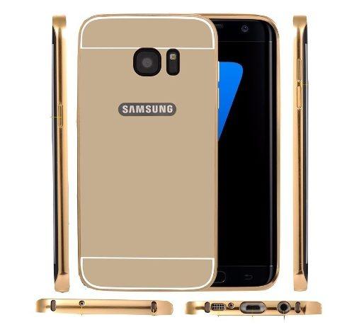 843131c08 Capa Case Bumper Espelhada Alumínio Galaxy S7 Edge Prata - R  32