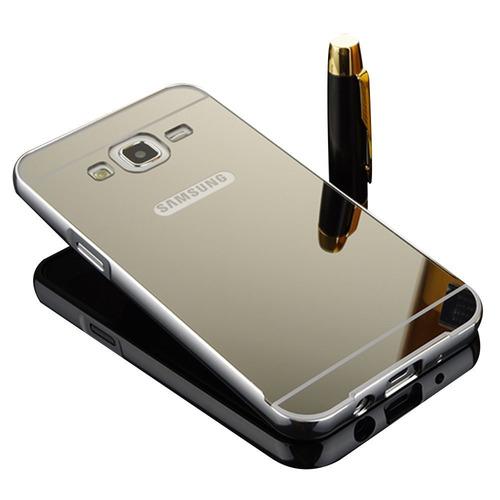 capa case bumper galaxy j7 j700 2015 espelhada alumínio luxo