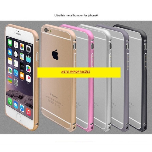 capa case bumper p/ iphone 6 plus aluminio c/ trava promoção