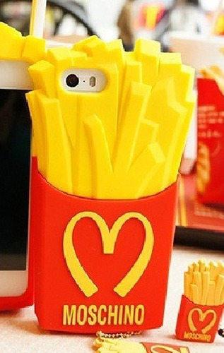 capa case capinha batata frita moschino iphone 4 4s + pelic