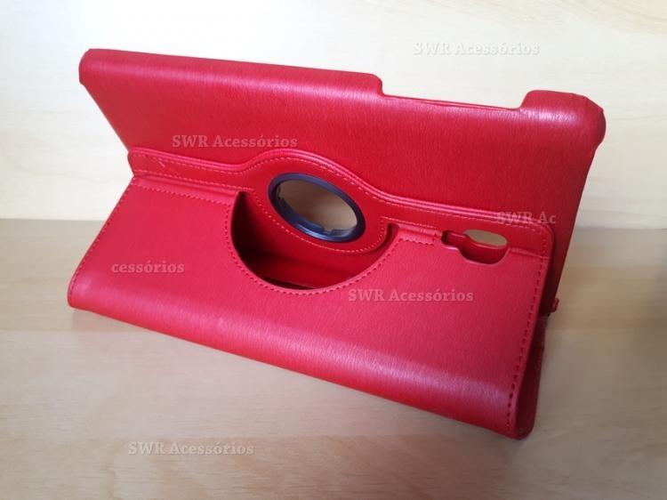 f2a0bc2f5 Capa Case Capinha Giratória Tablet Samsung Galaxy Tab 8 T380 - R  43 ...