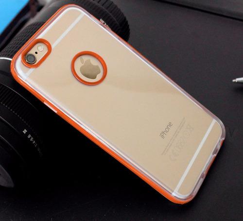capa case capinha iphone 6 plus tela 5.5 silicone +película