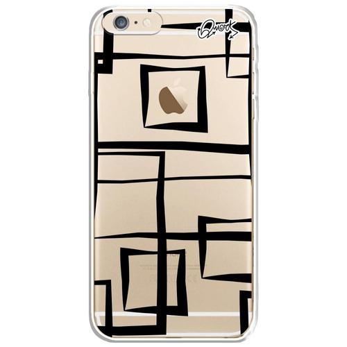 capa case capinha iphone6/6s-abstrato quadrados
