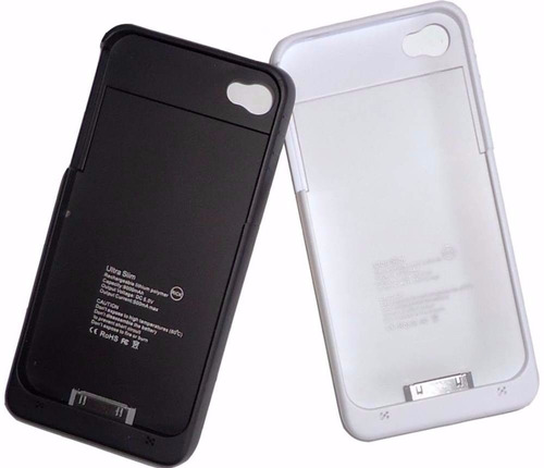 capa case carregador bateria extra iphone 4g 4s preto