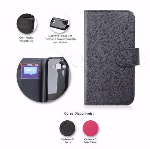 capa case carteira premium flip couro samsung galaxy j2 j200