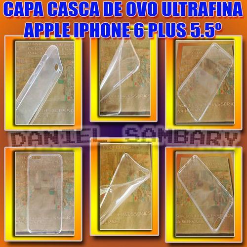 capa case casca ovo mega fina iphone 6 plus 5.5 transparente