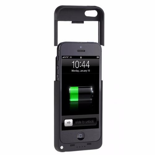capa case c/bateria extra carregador iphone 5 / 5c / 5s