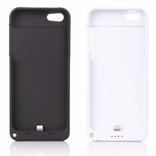 capa case c/bateria extra carregador iphone 5 / 5c / 5s / se