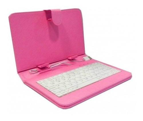 capa case com teclado para tablet 9 polegadas usb com apoio