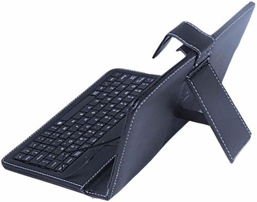 capa case com teclado usb para tablet 10 polegadas