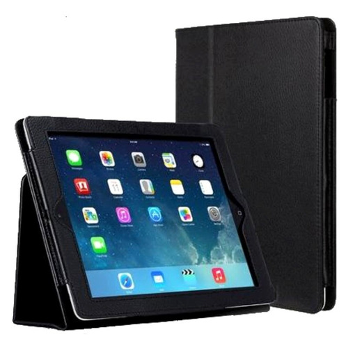 capa case couro tablet apple ipad 5 air 1 + pelicula vidro