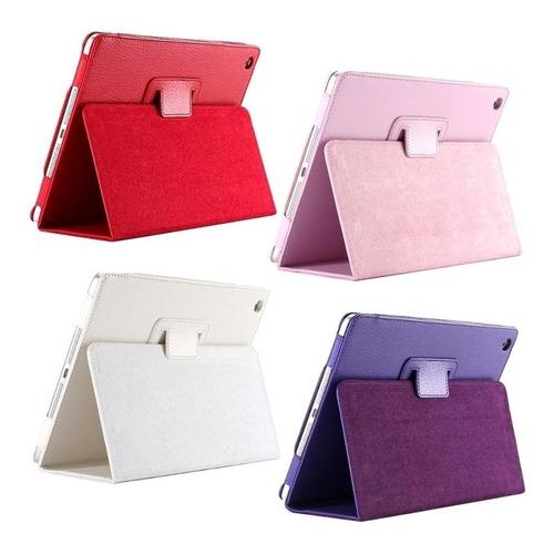 capa case couro tablet apple ipad 5 air + película vidro