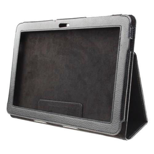 capa case couro tablet samsung galaxy tab 2 10.1 + película