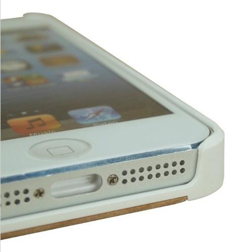 capa case de madeira / bambu apple iphone 5 5s cherry