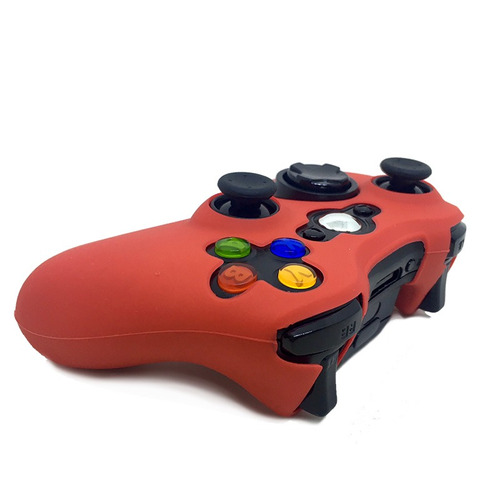 8ad48ff4a223f Capa Case De Silicone Protetora Controle Xbox 360 Colorida - R  9