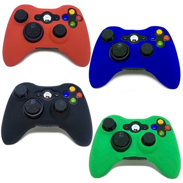 eb8943e984f14 Capa Case De Silicone Protetora Controle Xbox 360 Colorida - R  12 ...
