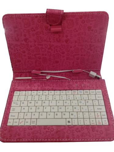 capa case desenho c/ teclado cce motion tr91 tr92 tablet 9