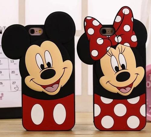 capa case emborrachada minnie, iphone 6 6s 4.7 p/vidro