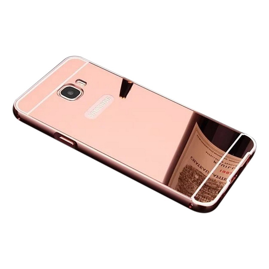 Capa Case Espelhado Bumper Samsung Galaxy J7 Prime Rosa R 3190 Carregando Zoom