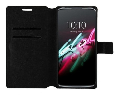 capa case  flip carteira alcatel one touch idol 3 tela 4.7