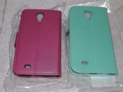 capa case flip carteira rosa e verde samsung galaxy s4