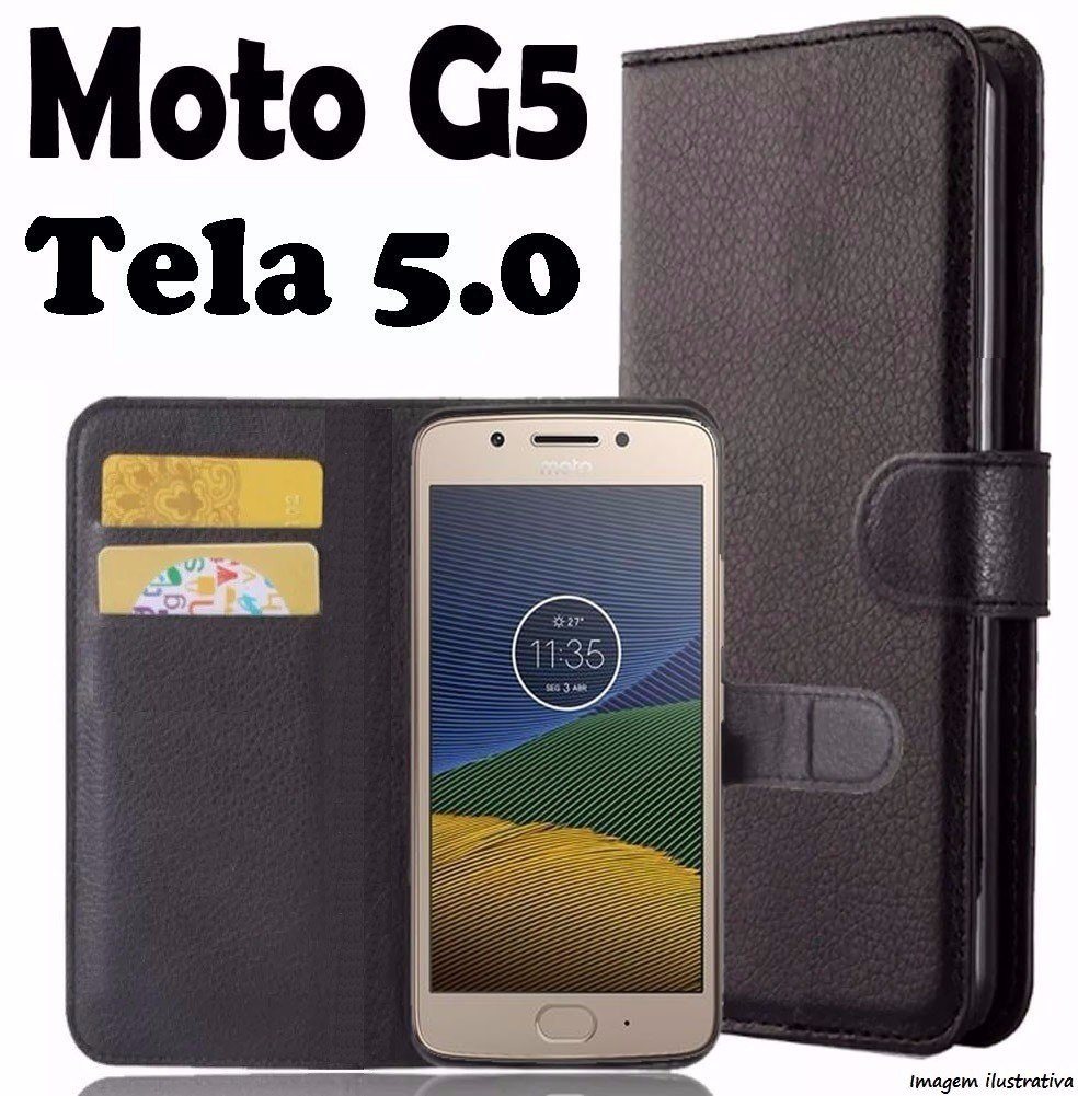 G5 0 Tela Moto Flip Case Xt1672 Carteira Capa Cover Proteg 5
