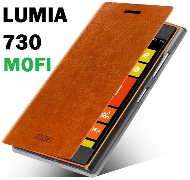 first rate efae4 5f6ab Capa Case Flip Cover Luxo Original Mofi - Nokia Lumia 730