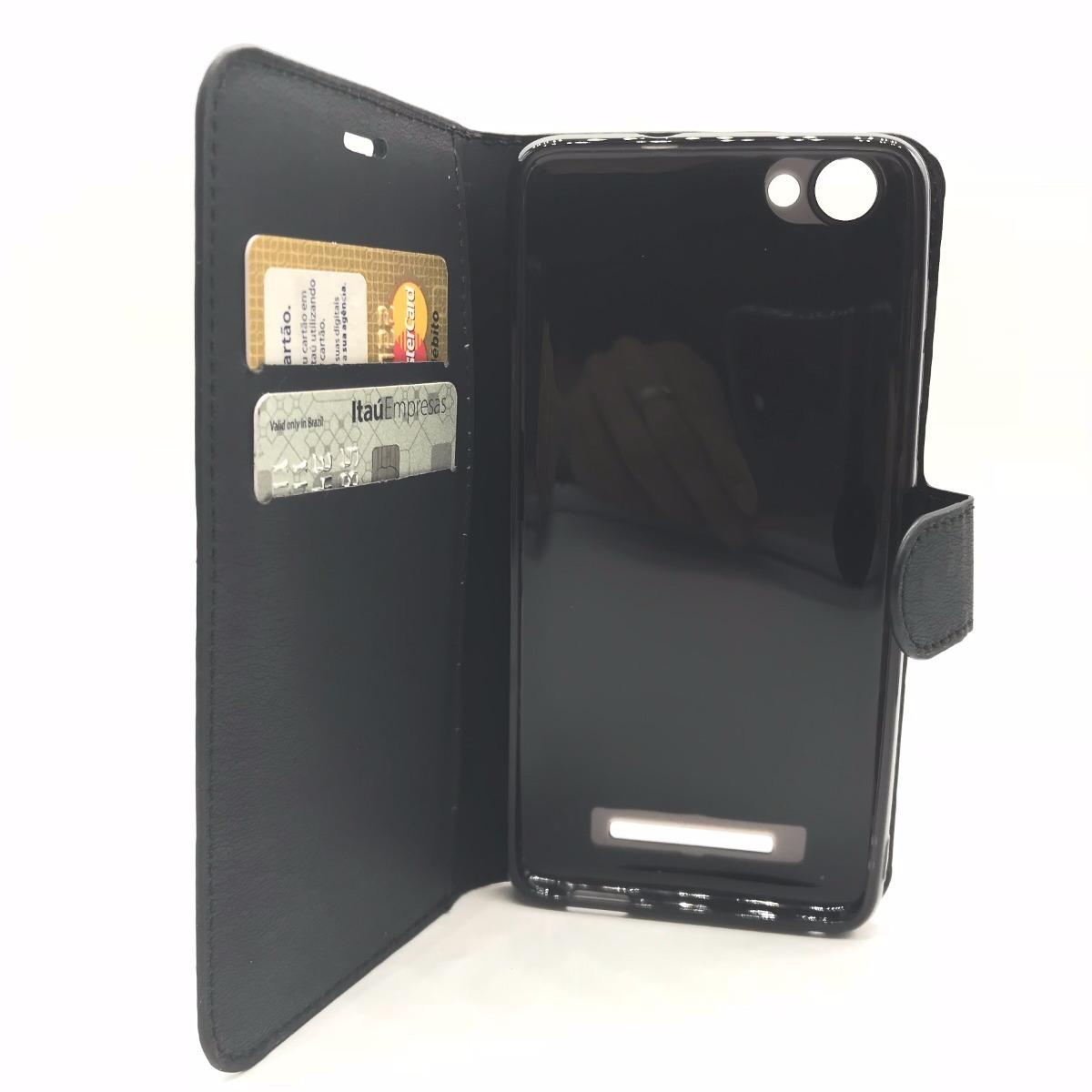 9bceec799b Capa Case Flip Porta Cartões Carteira Celular Quantum You L - R  20 ...