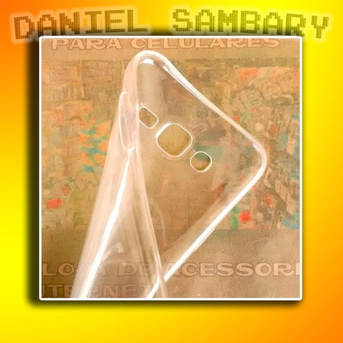 capa case galaxy j5 casca ovo transparente + película vidro