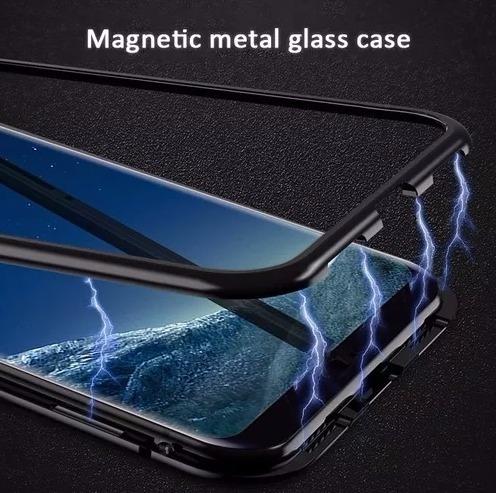 capa case imã magnética 360° galaxy note 8 com película gel