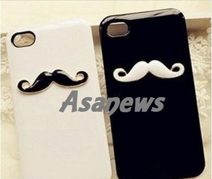 capa case iphone 4/4g/4s criativo mustache 3d bigode chaplin
