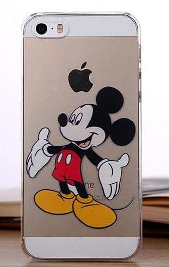Capa Case Iphone 5 5s Se Mickey Anti Risco R 15 89 Em Mercado