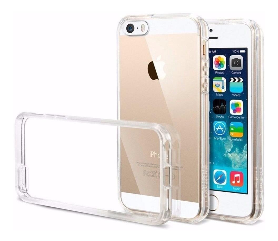 50d026287eb Capa Case iPhone 5 5s Se Transparente Tpu Flexível Apple - R$ 12,00 ...