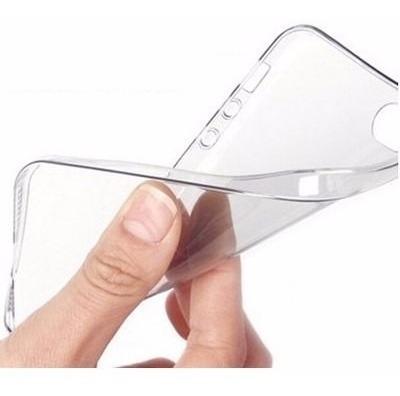 capa case iphone 5 5s transparente tpu flexível + película