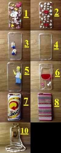 capa case iphone 6 -4,7 vários modelos tpu capinha silicone