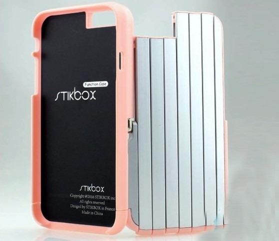 cheap for discount 108af 367ef Capa Case iPhone 6 6 Plus Stikbox Case Com Pau De Self 2in1