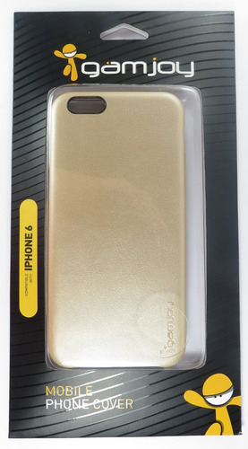 capa case iphone 6 dourada gamjoy