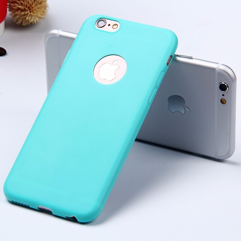 e992b2a51 capa case iphone 6 plus 5.5 silicone ultrafino azul clara. Carregando zoom.
