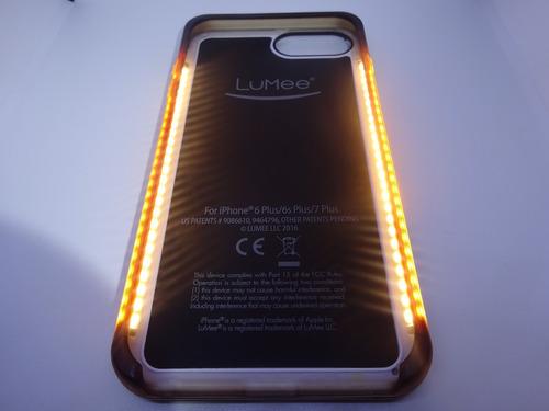 capa case iphone 6/7/8 plus lumee two selfie front lights