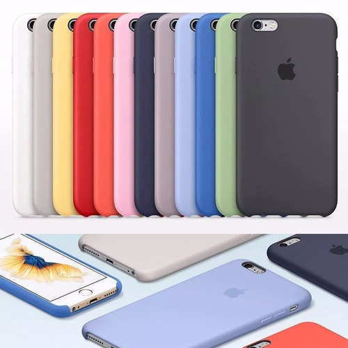 capa case iphone 6s 7 e 8 apple silicone lacrada original