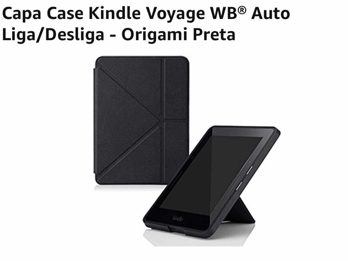 e7d92d8656790 Capa Case Kindle Voyage Origami Nova - R  85,00 em Mercado Livre