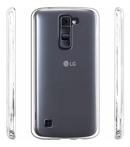capa case lg k10 transparente tpu flexível