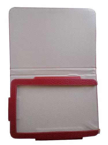 capa case livro 8 genesis gt-8230 vermelho croco