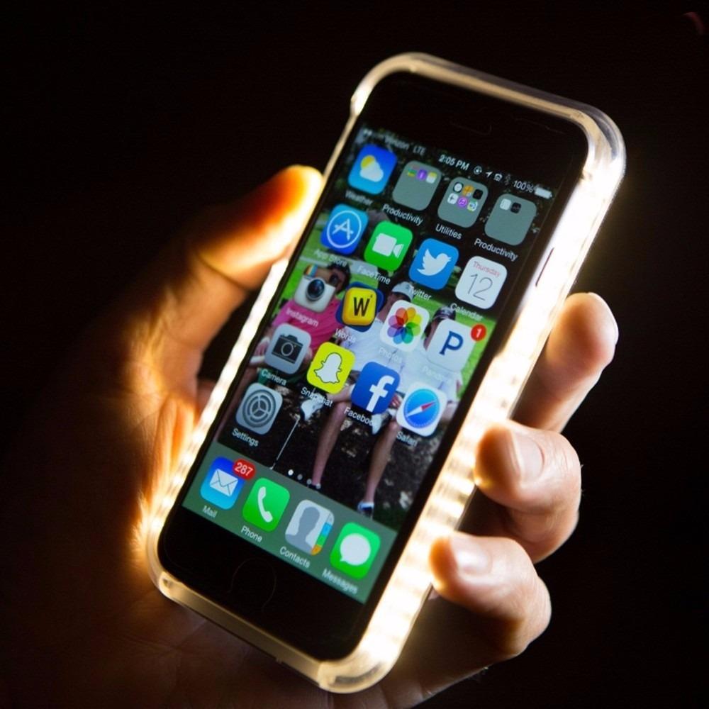capa case lumee iphone 6 iphone 6s led flash selfie luz top r 128 98 em m. Black Bedroom Furniture Sets. Home Design Ideas