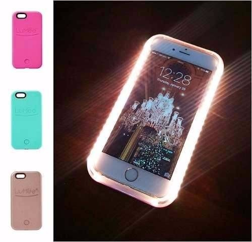 capa case lumee iphone 6 plus 6s plus led selfie luz top r 147 98 em merc. Black Bedroom Furniture Sets. Home Design Ideas