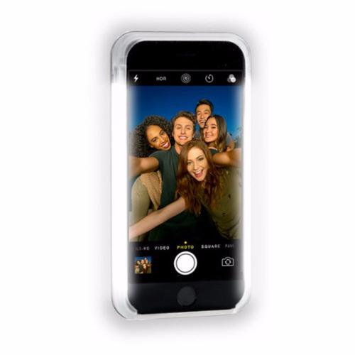 capa case lumee rosé/dourada led branco iphone 7/7 plus