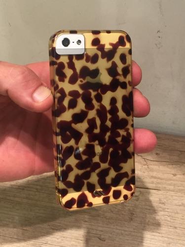 capa case mate tortoiseshell iphone se iphone 5s + película