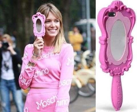 capa case moschino espelho barbie rosa iphone 4