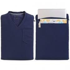 capa case notebook 12/13 camiseta  azul transporte seguro